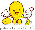 Oriental melon Mascot the left hand best gesture 22538313