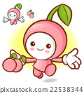 Cherry characters to promote fruit selling.  22538344