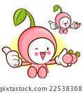 Cherry Mascot the Left hand best gesture. Fruit  22538368