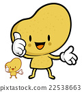 Potato Mascot the left hand best gesture 22538663