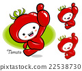 Tomato Mascot the Right hand best gesture.  22538730
