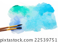 watercolor stroke with brush 22539751
