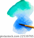 watercolor stroke with brush 22539765