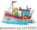 Fishing boat theme image 1 22540992