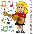 Girl guitar player theme image 2 22541002