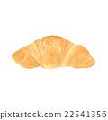 羊角麵包 麵包 水彩 22541356