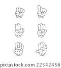 Vector of cartoon hand 22542456