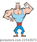 vector, male, bodybuilder 22542673