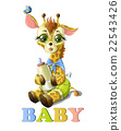 Cute baby giraffe 22543426