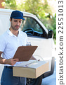 Delivery man looking at clipboard 22551013