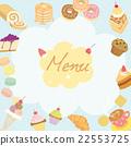 menu cafe  blue 22553725