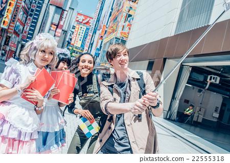 Foreigners sightseeing in Akihabara 22555318