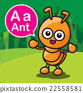A ant color cartoon and alphabet for children 22558581