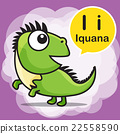 I Iguana color cartoon and alphabet for children 22558590