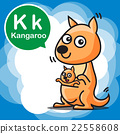 K Kangaroo color cartoon and alphabet for children 22558608