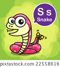S Snake color cartoon and alphabet for children 22558616