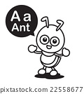 A ant cartoon and alphabet for children 22558677