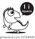 I Iguana cartoon and alphabet for children 22558685