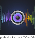 Musical Concept. Audio Speaker and Equalizer on 22559656