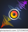 Musical Concept. Audio Speaker and Equalizer on 22559658