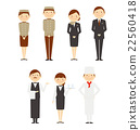 旅館人整個男人和婦女工作者設置了例證 22560418