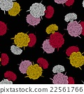Seamless pattern of colored carnations 22561766