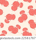Seamless pattern of pink carnations 22561767