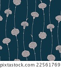 Seamless pattern of carnations 22561769