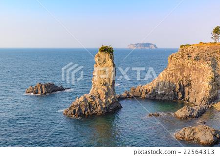 Stock Photo: Oedolgae Rock, Jeju Island, South Korea