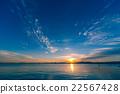 lake, biwa, sunrise 22567428