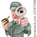 Sherlock Holmes Detective Cartoon 22567588
