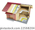 The small frame house in cut. 3d illustration 22568204
