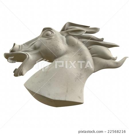 Horse statue torso. 3d illustration 22568216