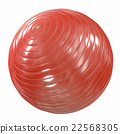 Fitball red. 3d illustration 22568305