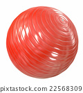 Fitball red. 3d illustration 22568309