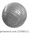 Fitball silver. 3d illustration 22568311