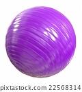 Fitball purple. 3d illustration 22568314