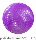 Fitball purple. 3d illustration 22568315