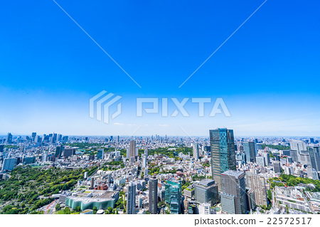 東京都市風景在初夏 22572517
