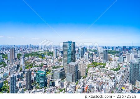 東京都市風景在初夏 22572518