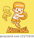 Basketball exercise in boys Mascot. Sports  22572928