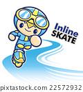 Inline skating boy Mascot. Sports Character 22572932