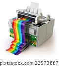 Printer and CMYK cartridges  22573667