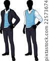 Silhouette office clerk in casual formal wear 22573674