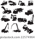 Silhouette of construction machines 22574964