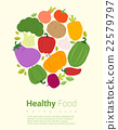 Healthy food background with vegetable 2 22579797