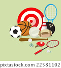set of sports equipment 22581102