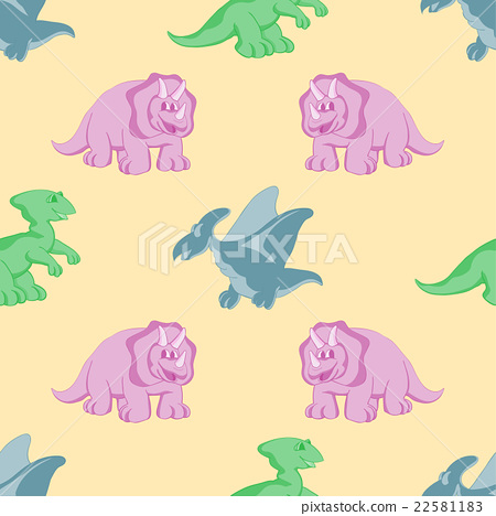 funny dinosaurs seamles background 22581183