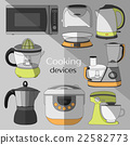 Cooking devices, icons set 22582773