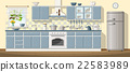 Illustration of a classic kitchen 22583989